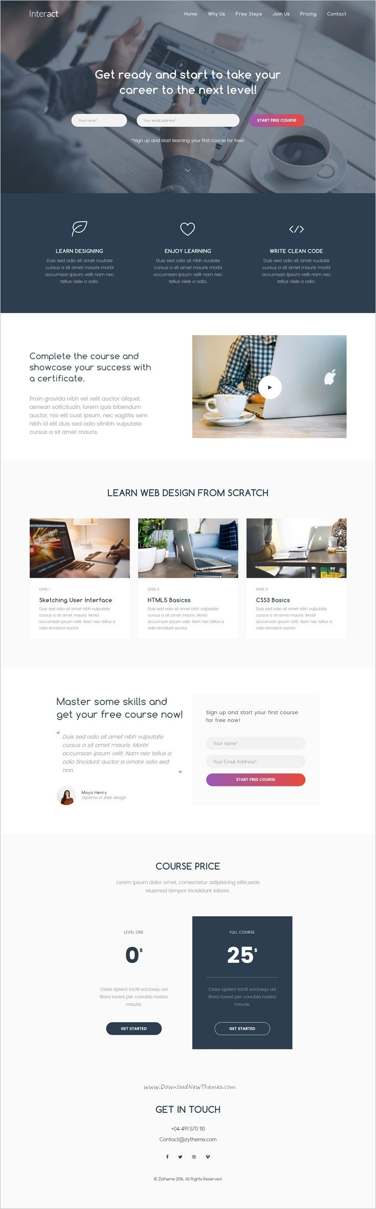 Interact is a clean and unique responsive 9in1 HTML #Bootstrap template for multipurpose #landingpage website download now➩ https://themeforest.net/item/interact-multipurpose-landing-page-template/18983001?ref=Datasata