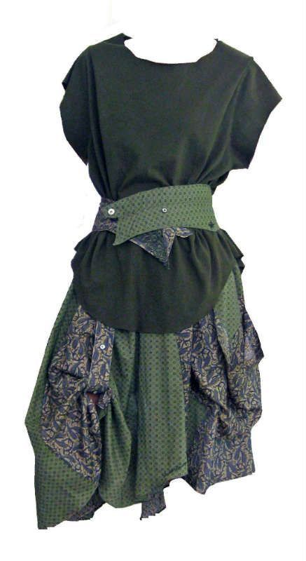 Skirt and belt recycled from two men's Shirts ... | Sew Me Something