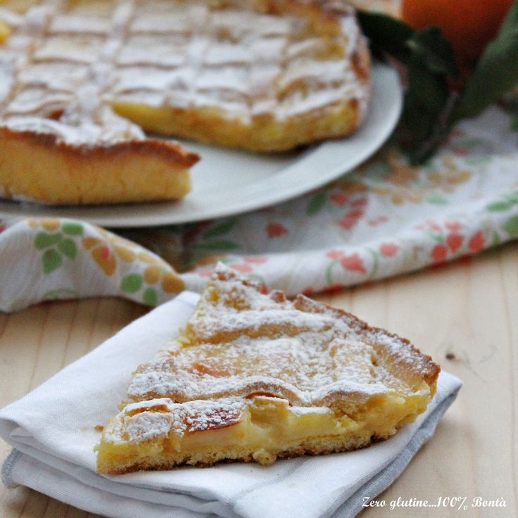 Crostata con crema all'arancia