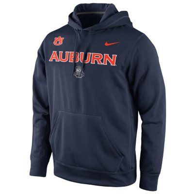 Nike Auburn Tigers 2014 BCS National Championship Bound Game Performance Pullover Hoodie - Navy Blue