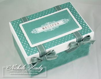 With all of the recipes I have, I need a cute box to put them in.  Think I'll decorate a box up like this.
