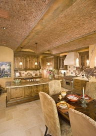 Kuchnia z jadalnia: Barrels Vault, Barrels Ceilings, Stones, Bricks Design Donna