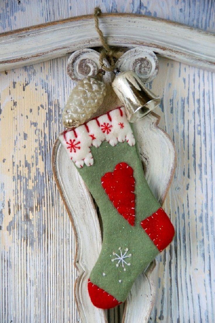 Diy retro christmas decorations - Top 10 Interesting Diy Christmas Stockings
