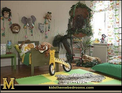 Jungle Rainforest Theme Bedroom Decorating Ideas And