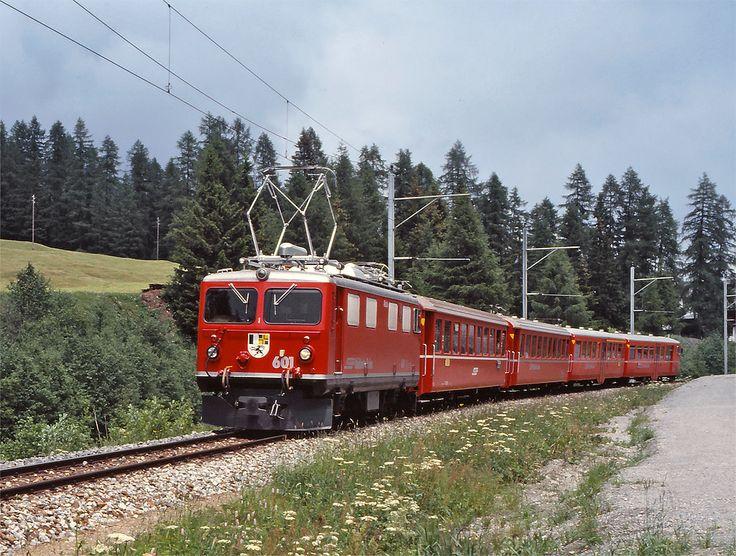 Maurizio Messa - RhB Ge4/4' 601 | RhB Ge4/4' 601 nei pressi di Davos Glaris  il 24 giugno 1989  RhB Ge4/4' 601 near Davos Glaris. June 24th, 1989