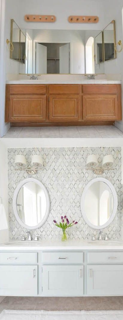 makeover ideas on pinterest paint bathroom cabinets diy bathroom