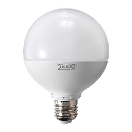 LEDARE LED bulb E27 IKEA The LED light source consumes up to 85% less energy and lasts 20 times longer than incandescent bulbs.