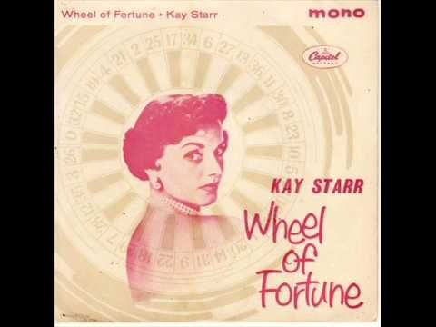 Famed 40s and 50s singer Kay Starr turns 92 today  -- she was born 7-21 in 1922. -- Here's one of her No 1 hits from 1952 'Wheel Of Fortune'