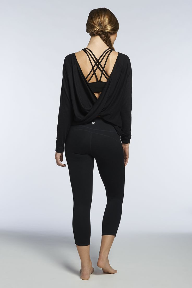 Channel your inner ballerina in this slimming silhouette. The Switch Back Tee can be worn forwards or backwards and the Vaasa Sports Bra is the perfect complement to its flattering cut. Add the Lima Flex Capri for even more sexy.@fabletics Referral link for half off first outfit! --> http://www.fabletics.com/invite/winetoweights/