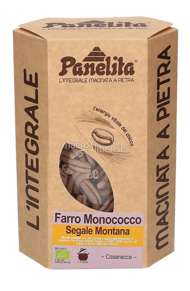 Pasta 100% italiana con semola di Farro Monococco - Triticum monococcum o Eincorn - coltivato in Italia. Prodotto Biologico.