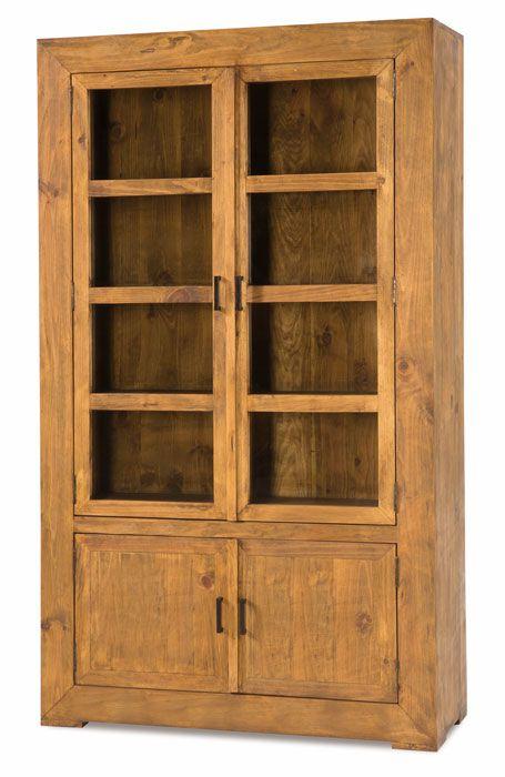 #vitrina #rústica estilo #mejicano grande color anogalada coleccion zoom ref: 50041. Más información en Rústico Colonial: http://rusticocolonial.es/mueble-rustico-y-mueble-mejicano-de-gran-calidad-al-mejor-precio/muebles-de-salon-rusticos-y-mejicanos-de-gran-calidad-al-mejor-precio