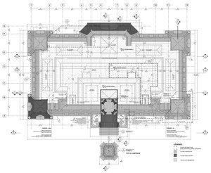 Restauration de l'Hôtel de Ville de Montréal par Affleck de la Riva, Montréal, Québec. Photo : Alain Laforest. Source : v2com. Image : Affleck de la Riva Architectes. Source : v2com.