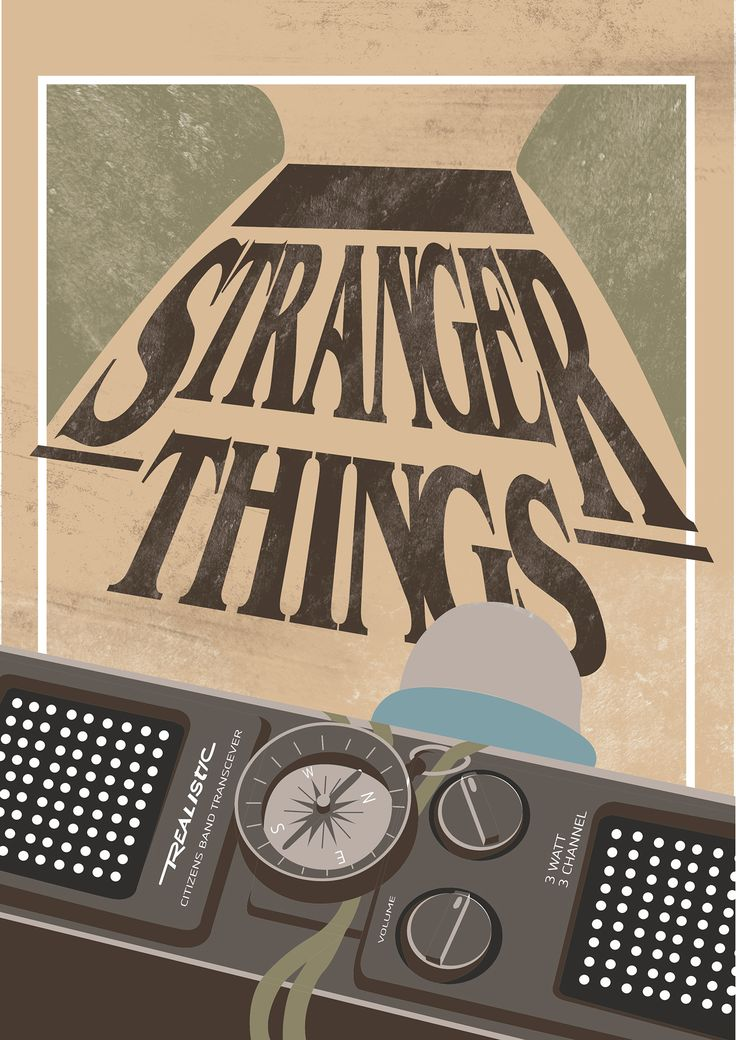 "Cartel Alternativo de la serie ""STRANGER THINGS"" on Behance"