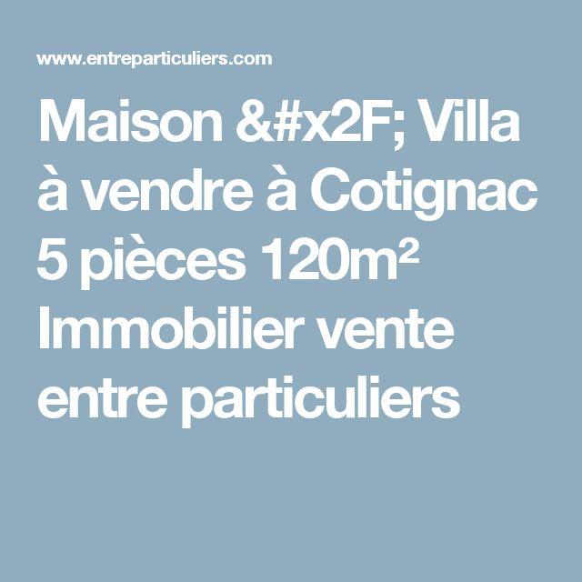Maison / Villa à vendre à Cotignac 5 pièces 120m² Immobilier vente entre particuliers