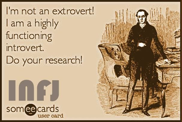 """""""As extroverted feelers (Aux Fe), INFJs are often mistaken to be extroverts due to their propensity and proficiency at empathizing with and elevating human beings. But make no mistake, INFJs are indeed introverts, in consequence of their dominant introverted intuition (Ni), and are in-fact energized in solitude, whilst exhausted in socializing."""""""