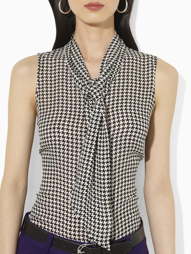 Silk Sleeveless Blouse - Sleeveless Shirts - RalphLauren.com