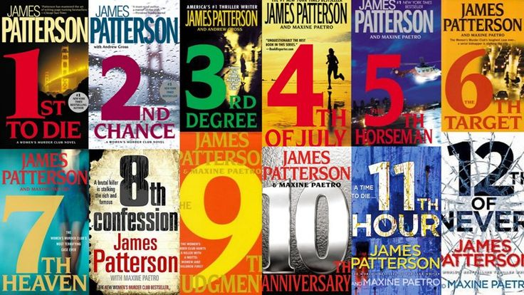 """James Patterson's """"Women's Murder Club"""" series. My favourite books, that's not all if them there's more"""