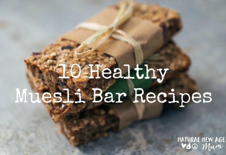 10 Healthy Muesli Bar Recipes. The best from Aussie bloggers! Gluten free, nut…