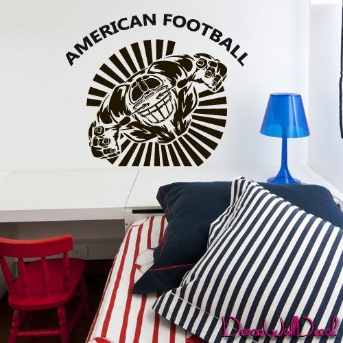 Wall Decal American Football Rugby Sport Helmet Play Man Ball rugby kids M1730. Thank you for visiting our store!!! Please read the whole description about this item and feel free to contact us with any questions! Vinyl wall decals are one of the latest trends in home decor. Vinyl wall decals give the look of a hand-painted quote, saying or image without the cost, time, and permanent paint on your wall. They are easy to apply and can be easily removed without damaging your walls. Vinyl…