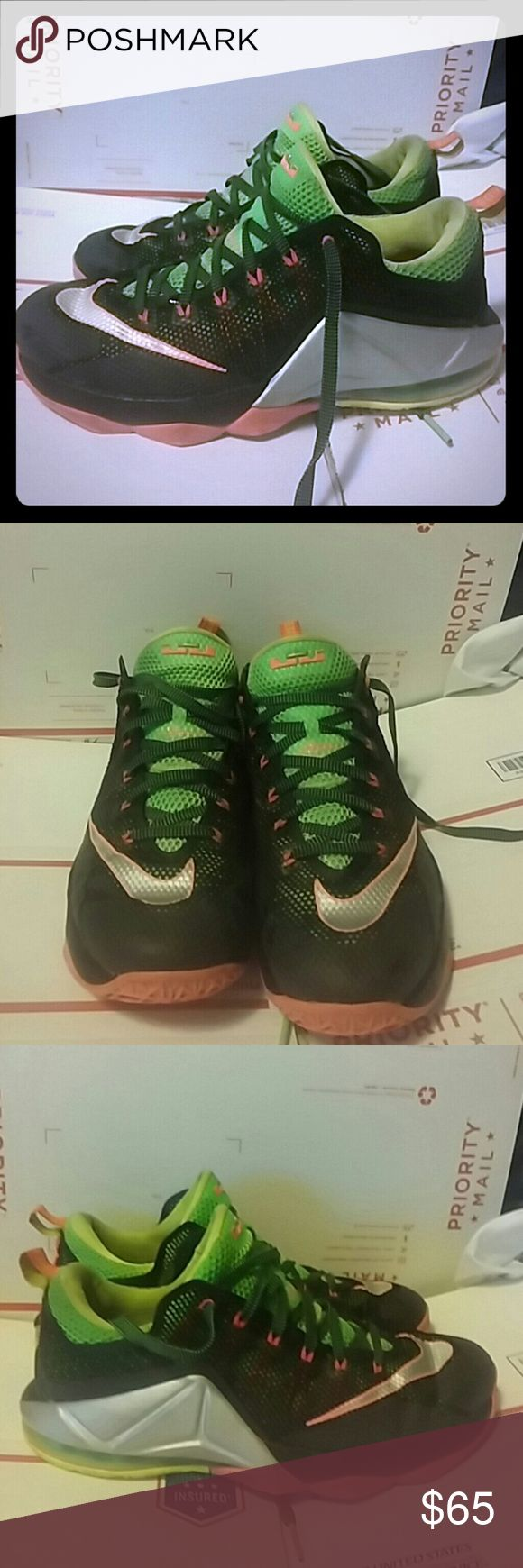 Nike Lebron XII REMIX Low Men's SZ 11 SZ 11 724557-003 Some moderate wear and dirt. Nike Shoes Sneakers
