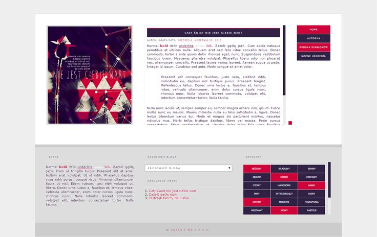 Blogger template Caly swiat by stupid-owl.deviantart.com on @DeviantArt