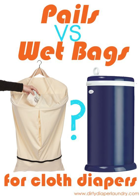Diaper pails or hanging wet bags for cloth diapers?  Love this comparison of both on Dirty Diaper Laundry.