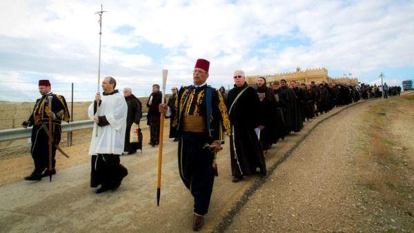 I Cattolici della Terra Santa ricordano il battesimo di Gesù al fiume Giordano