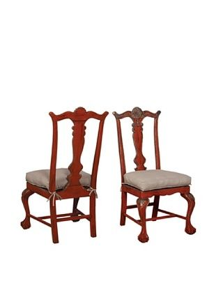 GuildMaster Set of 2 Chippendale Chairs
