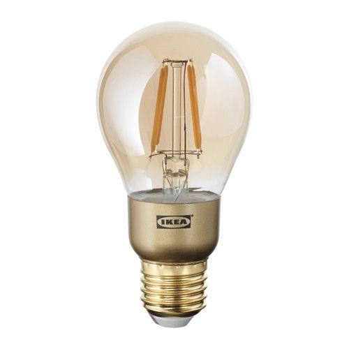 Lovely LUNNOM LED Lampe E lm dimmbar rund Klarglas braun