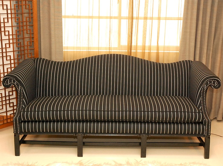 Striped Chippendale Sofa | Family rooms, Sofas and Furniture