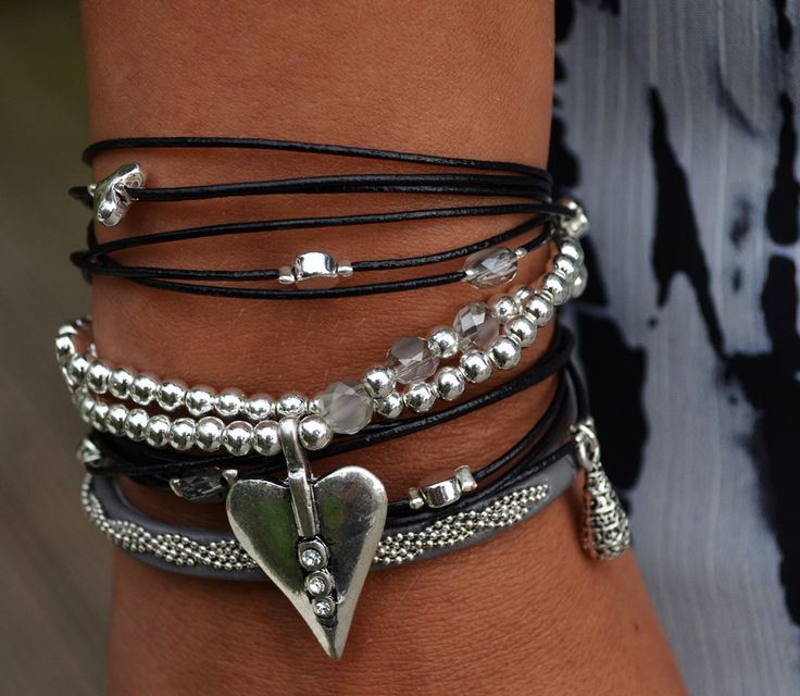 Bracelets Hult Quist Grey £27.50, Black £22,
