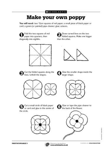 Make a flower or maybe a poppy for Remembrance Day.: