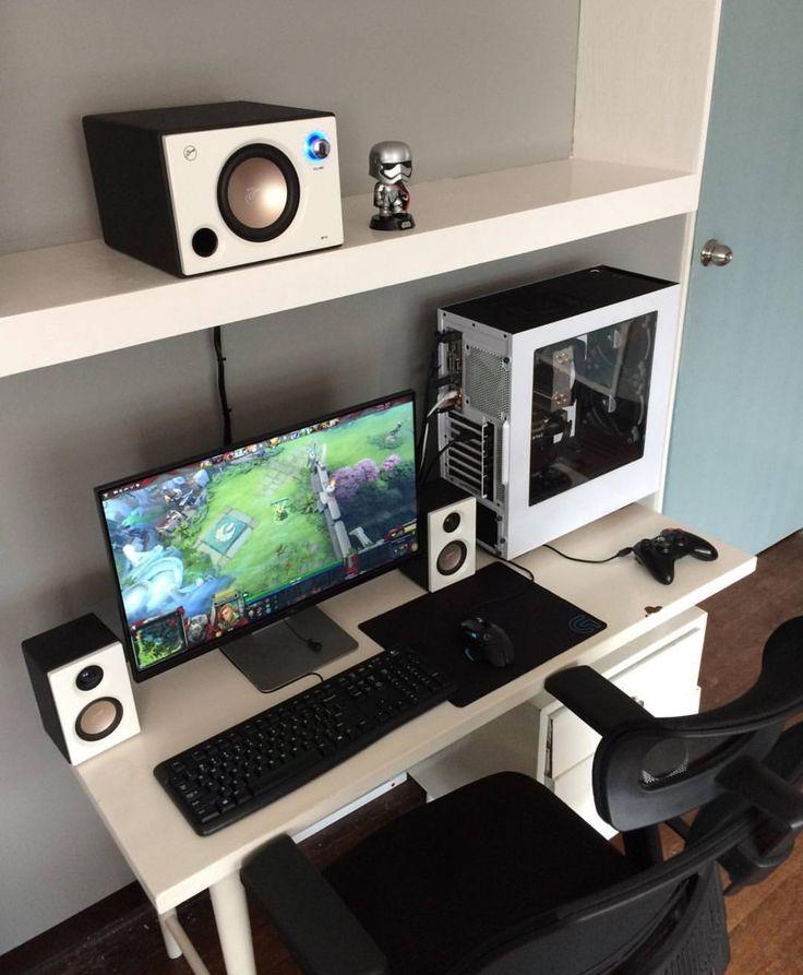 429 best desktop setups images on pinterest desk setup pc setup and computer setup. Black Bedroom Furniture Sets. Home Design Ideas