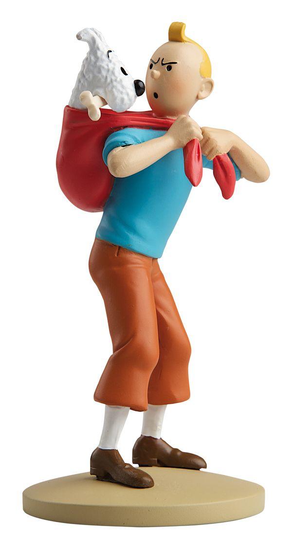 TINTIN FIGURINE NUMERO 39 COLLECTION disponible en France et en Belgique. Référence de la figurine: Tintin et Milou Le Temple du soleil, planche 29, case A2