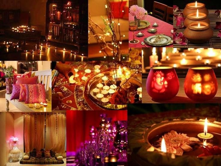 12 best decorate your home office place this diwali images for Simple diwali home decorations