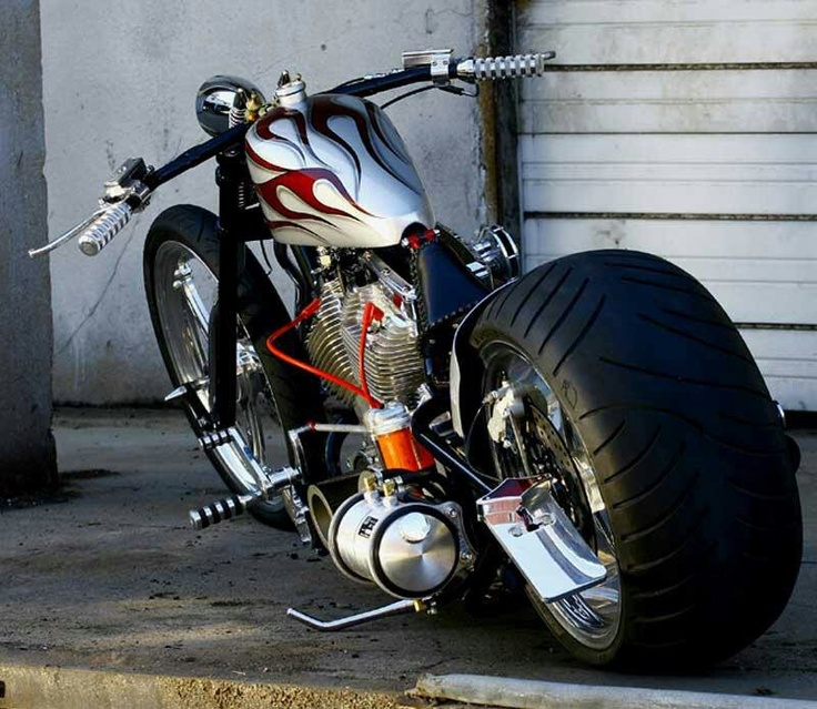 Custom Sportster Chopper.