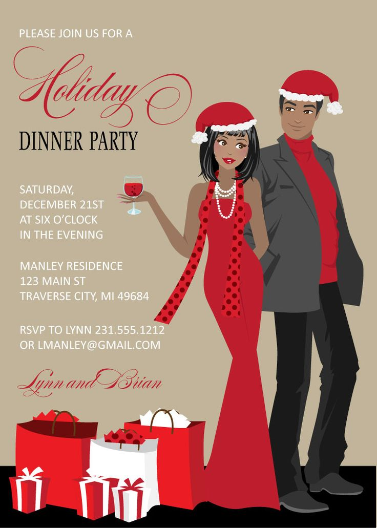 25 best ideas about christmas party invitations on pinterest holiday party invitations tacky - African american party ideas ...