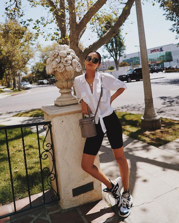 Song of Style wore Biker Shorts, So we are too   – Summer Outfit Ideas for Women