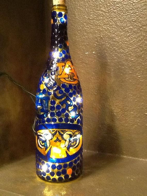 Auburn Tigers Decorative Lighted Wine Bottle By