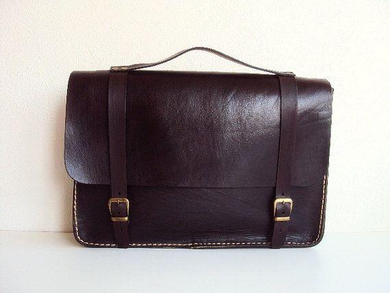 Brown Macbook Sleeve 13 inch Laptop Case Leather by ammaciyo