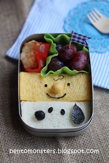 Snoopy and Charlie Brown Peanut Butter Sandwith Bento BoxLunch