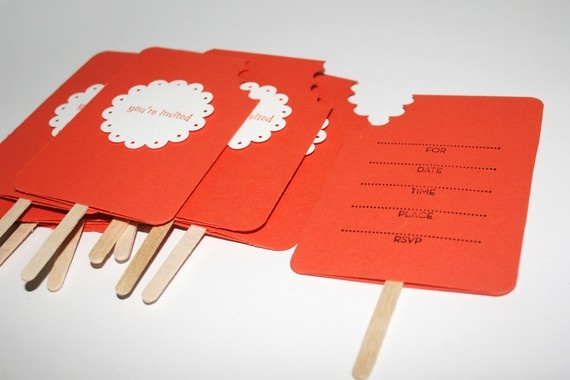 Invitations Party Birthday Creamsicle Orange Cards Set of Ten by For Any Occasion