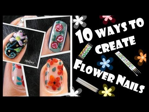 220 best meliney nail art design videos images on pinterest art 10 ways to create flower nails how to basic beginners guide to nail art prinsesfo Gallery