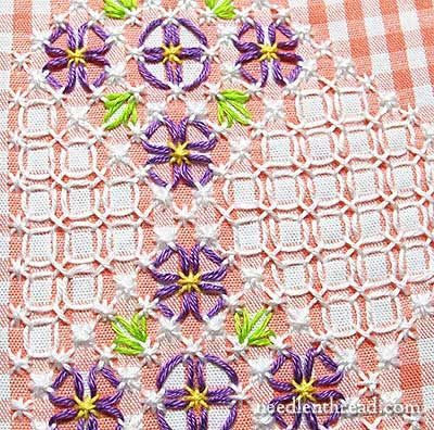 Gingham Lace / Chicken Scratch Embroidery - Free Pattern from Mary Corbet