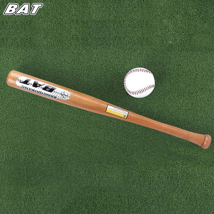 BAT 1 Pcs/set Profesional Baseball Bat Olahraga Kitty Bola Kayu Solid Tongkat Bisbol Untuk Dewasa Peralatan Fitness 63 73 83 CM