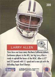 larry allen dallas cowboys rookie card | of the most recent sale prices for the 1994 Topps Larry Allen rookie ...