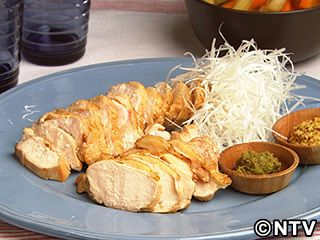 しっとりゆで鶏のレシピ|キユーピー3分クッキング