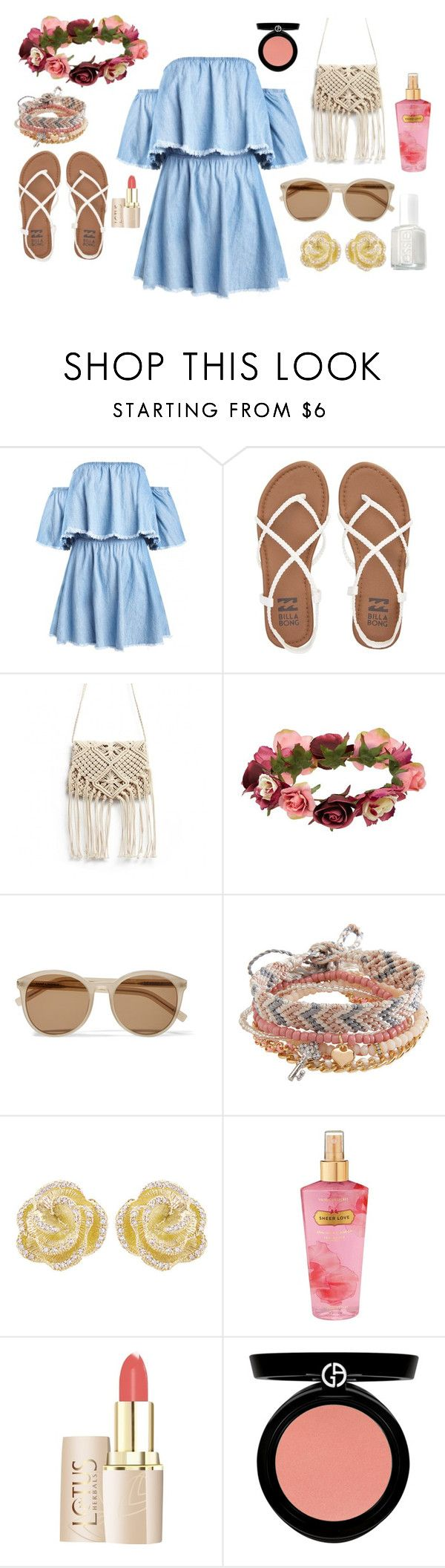 """""""on the bare"""" by alpha-female ❤ liked on Polyvore featuring Billabong, Forever 21, Yves Saint Laurent, Aéropostale, Effy Jewelry, Victoria's Secret, Armani Beauty and Essie"""