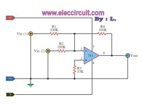 Learn 741 op-amp circuits basic with example | Webs | Solar ... on