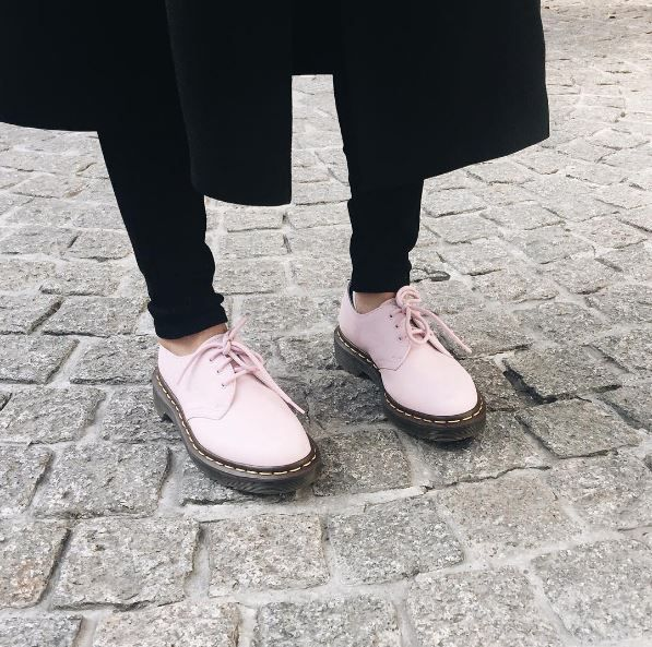 The 1461 shoe in Bubblegum Virginia leather. Shared by _jicema_
